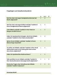 Fragebogen Karpaltunnelsyndrom - FOMT