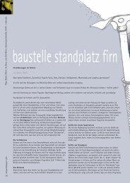 baustelle standplatz firn - Bergundsteigen