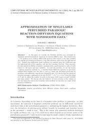 approximation of singularly perturbed parabolic reaction-diffusion ...