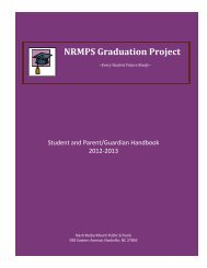 The Graduation Project Handbook - Nash-Rocky Mount Schools