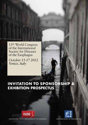 invitation to sponsorship & exhibition prospectus - ISDE 2012