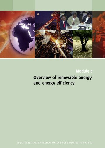 Overview of renewable energy and energy efficiency - unido