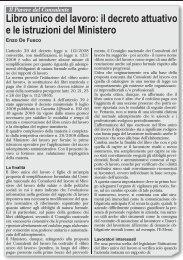 Libro unico del lavoro: il decreto attuativo e le ... - UILA Potenza