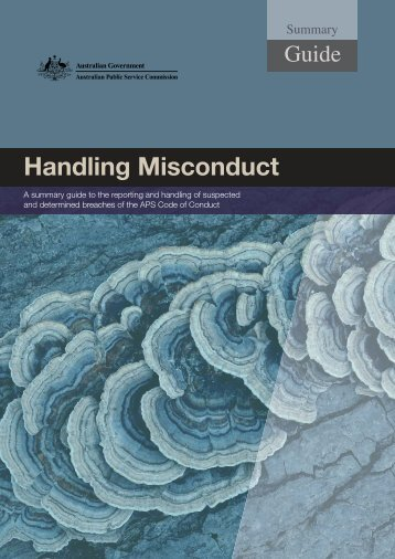 Handling Misconduct summary guide