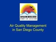 Air Quality Management - Air Pollution Control District