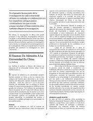 El examen de admisión a la universidad en China