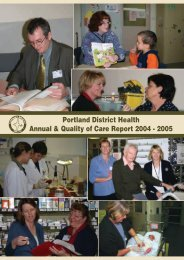 Portland District Health Annual Report 2005 - South West Alliance of ...