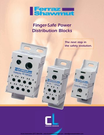Finger-Safe Power Distribution Blocks - Ferraz Fuses & Mersen ...