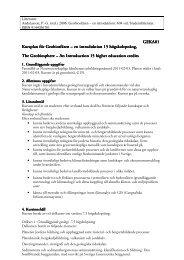 Kursplan - Institutionen för naturgeografi och ekosystemvetenskap