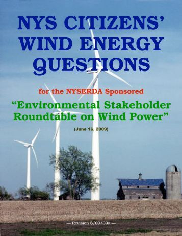 NYSERDA Questions (WP) - Northnet.org