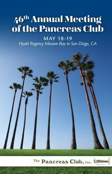 46th Annual Meeting of the Pancreas Club Hyatt