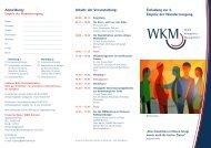 Einladung zur 5. Empirie der Wundversorgung ... - wkmonline.de