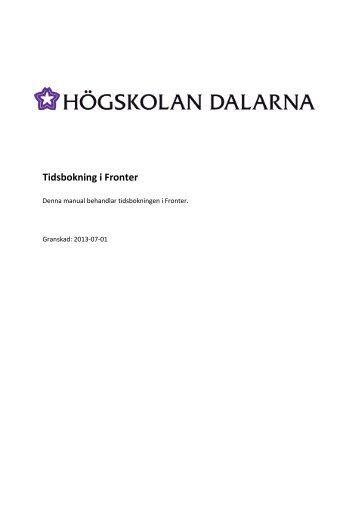 Tidsbokning i Fronter - IKT-pedagogiskt centrum - Högskolan Dalarna