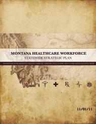Montana Healthcare Workforce Statewide Strategic Plan
