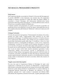 nicaragua - Cooperazione Italiana allo Sviluppo