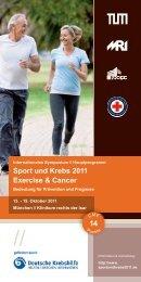 Sport und Krebs 2011 Exercise & Cancer - International Symposium ...