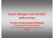 10 Jahre Kinderchirurgie Reutlingen