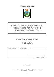 relazione illustrativa linee guida piano di qualificazione urbana ...