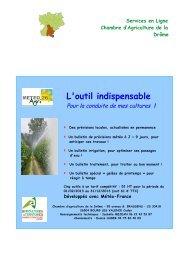 L'outil indispensable - Chambres d'Agriculture de Rhône-Alpes