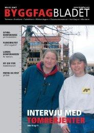 Byggfagbladet 1 2007 - Tømrer og Byggfagforeningen