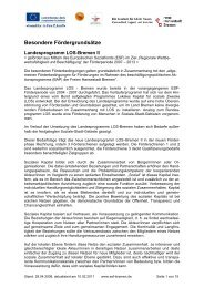 Fördergrundsätze Landesprogramm LOS-Bremen II Stand