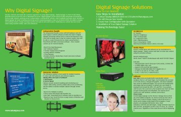 Digital Signage Cover 4 - Tatung