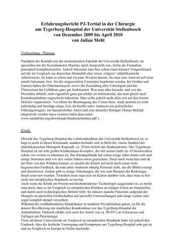 Erfahrungsbericht PJ-Tertial Martinique 2008 - bvmd