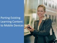 Porting Existing Learning Content to Mobile Devices