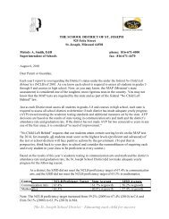 No Child Left Behind Corrective Action Letter 2010 - SJSD Home Page