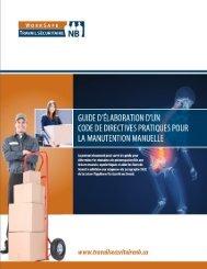 Guide d'élaboration d'un code de directives - Travail sécuritaire NB