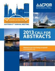 abstraCts - American Academy for Cerebral Palsy and ...