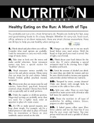 Healthy Eating on the Run - Wellness