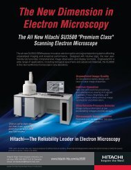 The New Dimension in Electron Microscopy - Hitachi High ...