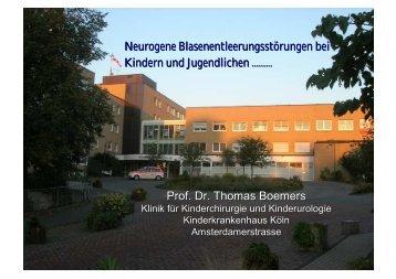 Diagnostik und Therapie der neurogenen Blasenentleerungsstörung