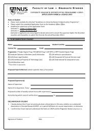 APPLICATION FORM for AY2012/2013 Notes to Student: • Please ...