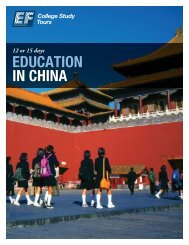 EDUCATION IN CHINA - EF College Study Tours