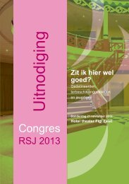 Uitnodiging RSJ Congres - Raad voor Strafrechtstoepassing en ...