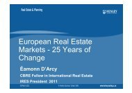 European Real Estate Markets - 25 Years of Change - eres.scix.net