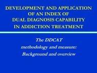 dual diagnosis capability in addiction treatment - Homelessness ...