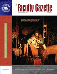 The Faculty Gazette, Volume 8, Number 2 - Lebanese American ...