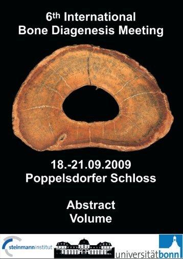 BD09 Abstract book - 6th Bone Diagenesis Meeting in Bonn, Germany