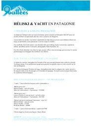 HÉLISKI & YACHT EN PATAGONIE - Ski Safari 9 vallées