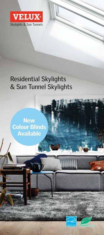 Residential Skylights & Sun Tunnel Skylights - Velux