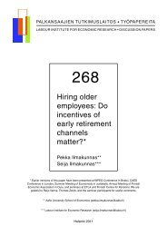 Hiring older employees: Do incentives of early retirement channels ...