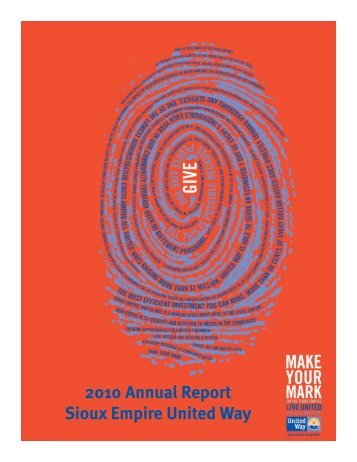 2010 Annual Report Sioux Empire United Way