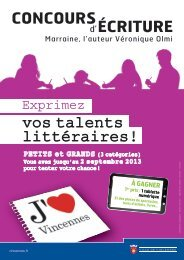 règlement du concours d'écriture J'aime Vincennes (pdf - 352,94 ko)