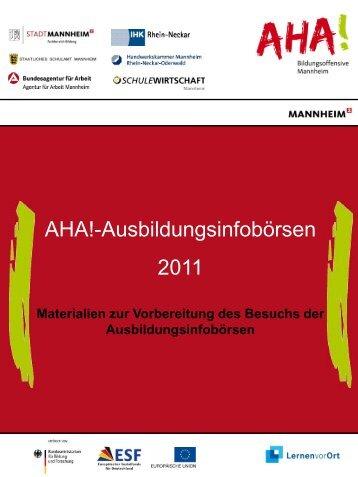 AHA!-Ausbildungsinfobörsen 2011