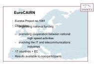 EuroCAIRN overview presentation - Dante Archive