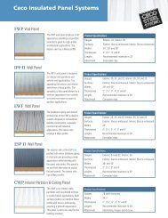 FWP Insulated Wall Panels - Ceco Building Systems