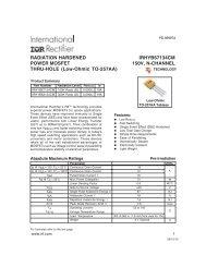RADIATION HARDENED IRHYB67134CM POWER MOSFET 150V ...